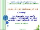 Bài giảng: Quản lý chất thải rắn đô thị - Chương 2 (TS. Trần Thị Mỹ Diệu)
