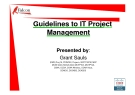 Overview of PMI Project Management - Guidelines to IT Project Management