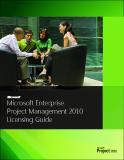 Microsoft Enterprise  Project Management 2010  Licensing Guide