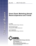 Green Power Marketing Abroad: Recent Experience and Trends