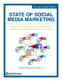 Top Areas For Social Marketing Investment and  Biggest Social Marketing Challenges in 2012