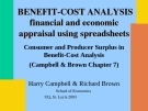 Consumer and Producer Surplus in Benefit-Cost Analysis