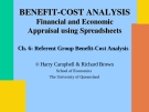 Referent Group Benefit-Cost Analysis