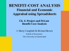 Project and Private  Benefit-Cost Analysis