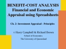 Investment Appraisal - Principles