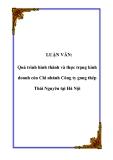 LUẬN VĂN: Quá trình hình thành và thực trạng kinh doanh của Chi nhánh Công ty gang thép Thái Nguyên tại Hà Nội
