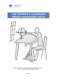 THE DOKEOS E-LEARNING PROJECT MANAGEMENT GUIDE