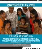 2012 PROSPECTUS FACULTY OF MANAGEMENT SCIENCES