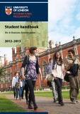 Student handbook BSc in Business Administration 2012–2013