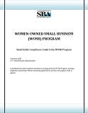 WOMEN-OWNED SMALL BUSINESS  (WOSB) PROGRAM: Small Entity Compliance Guide to the WOSB Program