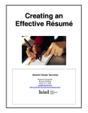 Creating an Effective Résumé Alumni Career Services