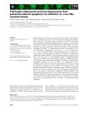Báo cáo khoa học: Full-length adiponectin protects hepatocytes from palmitate-induced apoptosis via inhibition of c-Jun NH2 terminal kinase