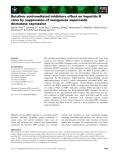 Báo cáo khoa học: Betulinic acid-mediated inhibitory effect on hepatitis B virus by suppression of manganese superoxide dismutase expression