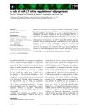 Báo cáo khoa học: A role of miR-27 in the regulation of adipogenesis