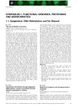 Báo cáo khoa học: SYMPOSIUM 1: FUNCTIONAL GENOMICS, PROTEOMICS AND BIOINFORMATICS