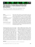 Báo cáo khoa học: Overexpression of human histone methylase MLL1 upon exposure to a food contaminant mycotoxin, deoxynivalenol
