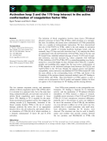 Báo cáo khoa học: Activation loop 3 and the 170 loop interact in the active conformation of coagulation factor VIIa