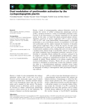 Báo cáo khoa học: Dual modulation of prothrombin activation by the cyclopentapeptide plactin