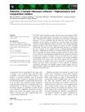 Báo cáo khoa học: Adenine, a hairpin ribozyme cofactor – high-pressure and competition studies