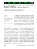 Báo cáo khoa học: In vivo RNA interference in oyster – vasa silencing inhibits germ cell development