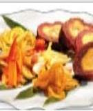 Bánh tét lá cẩm cho ngày Tết