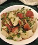 Khoai tây luộc xốt hương ngò