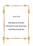 LUẬN VĂN:  Hoạt động của chi nhánh NHNo&PTNT quân Thanh Xuân trong những năm gần đây