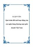 LUẬN VĂN:  Quá trình đổi mới hoạt động của các ngân hàng thương mại quốc doanh Việt Nam