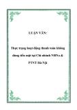 LUẬN VĂN:  Thực trạng hoạt động thanh toán không dùng tiền mặt tại Chi nhánh NHNo & PTNT Hà Nội