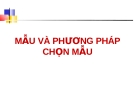 Dịch tễ học: MẪU VÀ PHƯƠNG PHÁP CHỌN MẪU