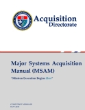 Major  Systems Acquisition  Manual (MSAM)