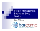 Project Management  Basics for Busy  Geeks