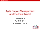 Agile Project Management  and the Real World