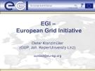 EGI –  European Grid Initiative