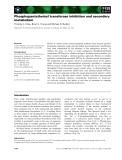 Báo cáo khoa học: Phosphopantetheinyl transferase inhibition and secondary metabolism