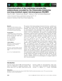 Báo cáo khoa học: Characterization of the restriction enzyme-like endonuclease encoded by the Entamoeba histolytica non-long terminal repeat retrotransposon EhLINE1