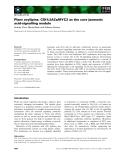 Báo cáo khoa học: Plant oxylipins: COI1/JAZs/MYC2 as the core jasmonic acid-signalling module