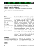 Báo cáo khoa học: Caenorhabditis elegans metallothionein isoform specificity – metal binding abilities and the role of histidine in CeMT1 and CeMT2