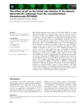 Báo cáo khoa học: The effect of pH on the initial rate kinetics of the dimeric biliverdin-IXa reductase from the cyanobacterium Synechocystis PCC6803