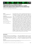 Báo cáo khoa học: Characterization of a membrane-bound angiotensin-converting enzyme isoform in crayfish testis and evidence for its release into the seminal fluid
