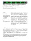 Báo cáo khoa học: Functional analysis of pyrimidine biosynthesis enzymes using the anticancer drug 5-fluorouracil in Caenorhabditis elegans