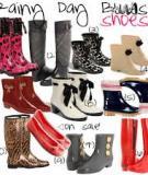 Những điều nên và không nên trong việc chọn một đôi giày cho ngày mưa