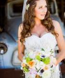 Những kiểu tóc đẹp nổi bật với khăn voan cho cô dâu rực rỡ
