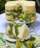 Công thức và hướng dẫn cách làm Matcha Marble Chiffon - Chiffon trà xanh