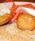 Làm bánh quy vừng giòn rụm, thơm phức