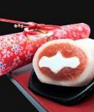 Cách làm bánh sakura mochi, một loại bánh truyền thống của Nhật Bản Bánh Mochi với nhận đậu ngọt và kem tươi bên trong
