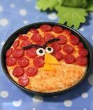 Hướng dẫn làm Pizza Angry bird xúc xích siêu ngon!!!