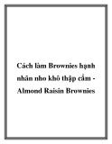 Cách làm Brownies hạnh nhân nho khô thập cẩm Almond Raisin Brownies