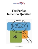 The Perfect Interview Question