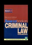 SOURCEBOOK ON CRIMINAL LAW
